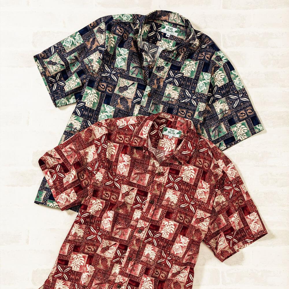 アメリカ製ハワイアンシャツ(米・トゥーパームズ)(週刊新潮DM紹介)