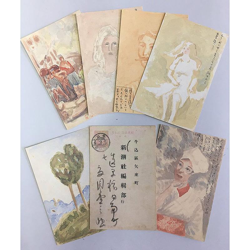 漱石絵はがきセット(6枚組)
