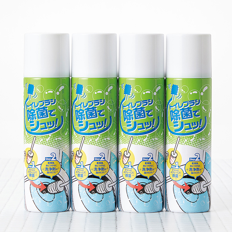 トイレブラシ除菌でシュッ(4本組)(日・セイエイ)(週刊新潮DM紹介)